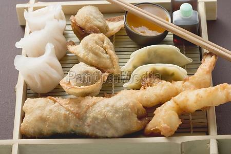 algunos comida pelota relleno asia camaron
