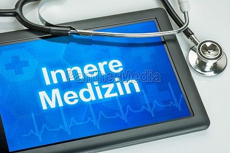 tableta con el departamento de medicina