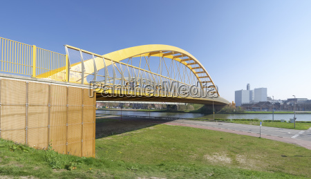 yellow arch bridge