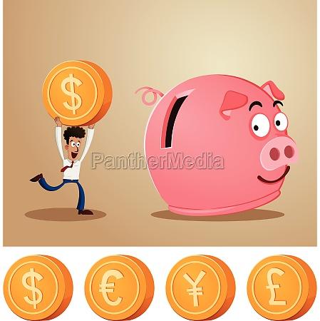 el ahorro de dinero en la