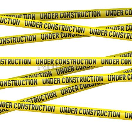 cinta, de, peligro, amarilla, bajo, construcción - 11708999