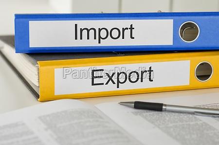 etiquetado de carpetas de archivos importacion