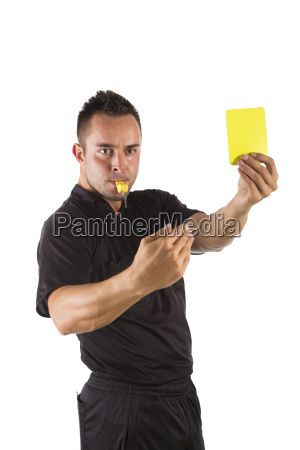 arbitro con tarjeta amarilla exento