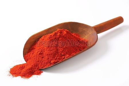 comida especia primer plano paprika pimientos