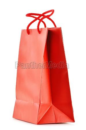 bolsa de compra de papel aislada