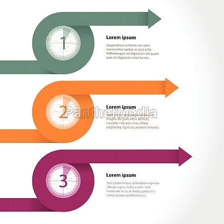 curling flechas infograficas con cuenta atras