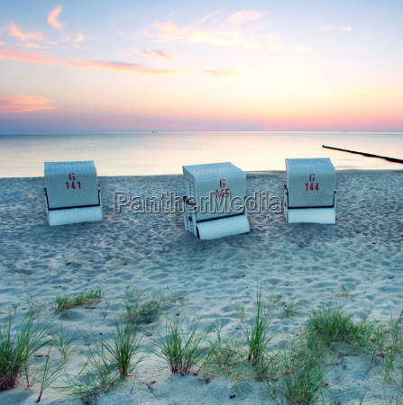 beach chairs by the sea