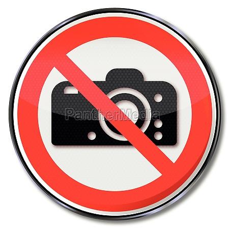 prohibido fotografiar verbotsschild