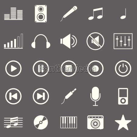 iconos de la musica en fondo