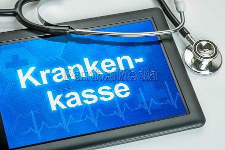 tableta con la aseguradora de salud