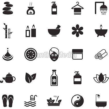iconos de spa sobre fondo blanco