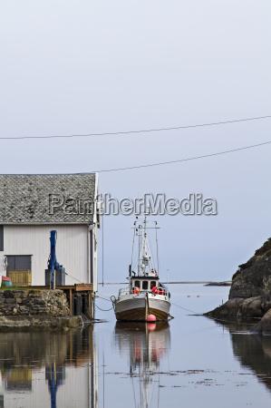 puerto noruega barco de pesca puertos