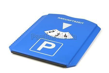 tiempo estacionamiento estacionamiento de disco