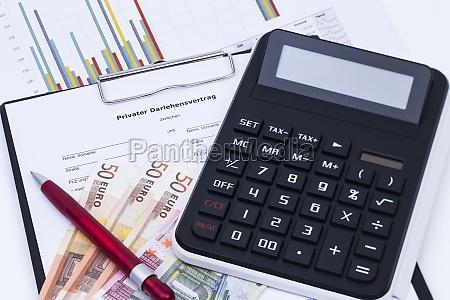 contrato calculadora de bolsillo credito velocidad
