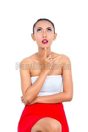mujer gesto falda personas gente hombre