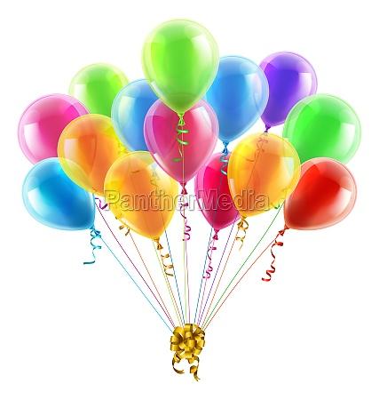 cumpleanyos o partido globos y arco