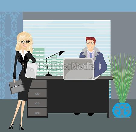 tipo mujer oficina portatil computadoras computadora