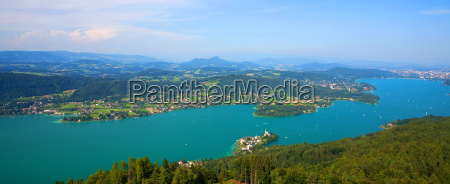 lago woerthersee in austria
