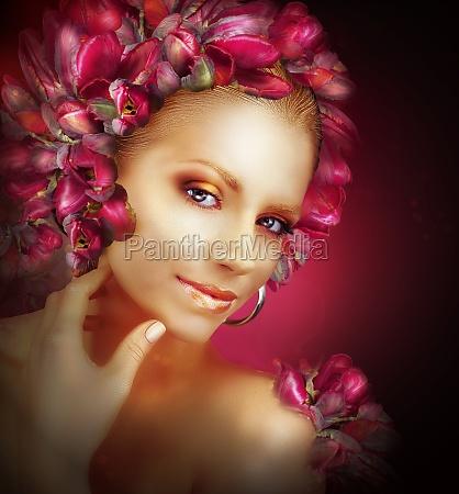 mujer risilla sonrisas arte color fiesta