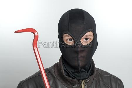 burglar with balaclava