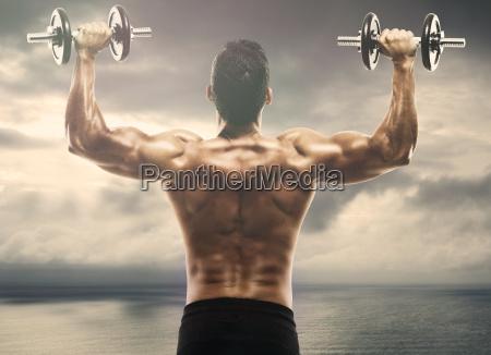 musculo haciendo elevaciones