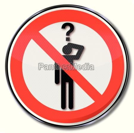 signo de prohibicion pidiendo prohibido