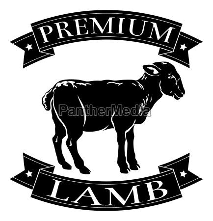 icono de menu de cordero premium