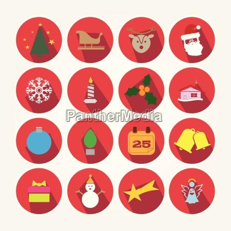 conjunto de iconos de la navidad