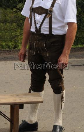 hombre, hombres, pantalones, de, cuero, pantalones, de, cuero, tracht, moda, steiermark, brauch, brauchtum, cultura, de - 12381264