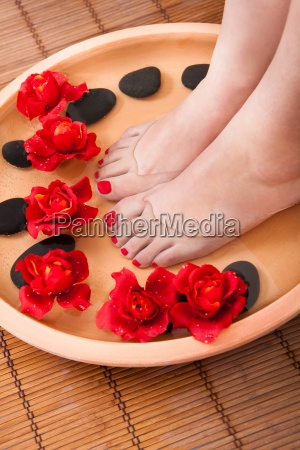 pies femenino de la terapia del