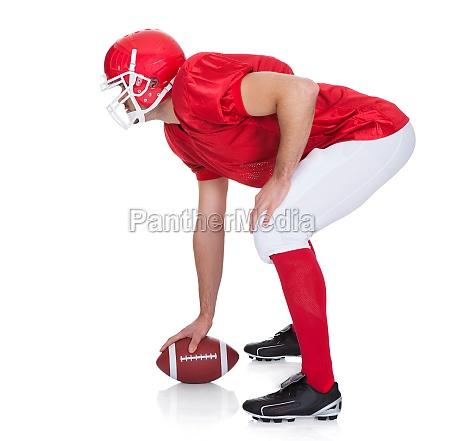 retrato del jugador de futbol americano
