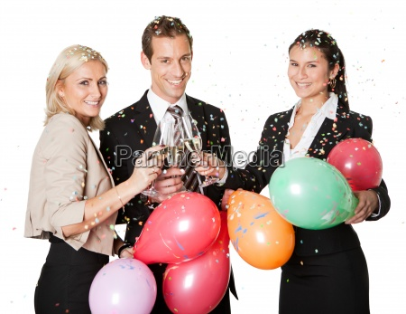 equipo de negocios selebrating exito