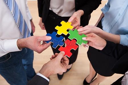 empresarios montaje jigsaw puzzle