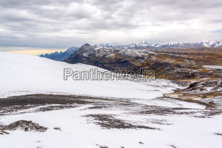 snowy andes mountains