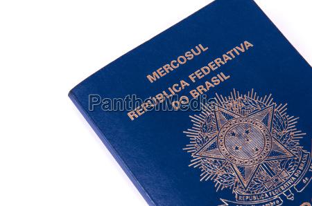 paseo viaje turismo brasil pasaporte documento