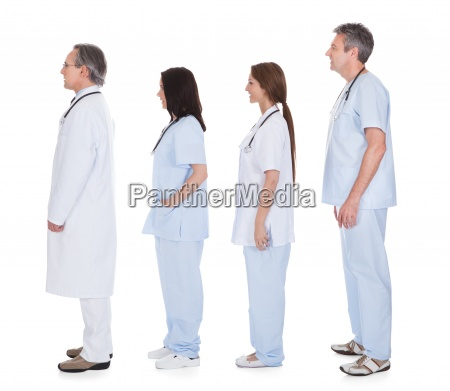 group of doctor standing in a