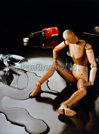 problema de alcohol simbolico