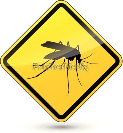 vector cuidado con los mosquitos signo