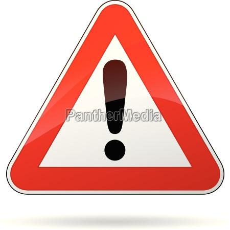 vector senyal de advertencia
