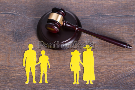 concepto de divorcio de la familia