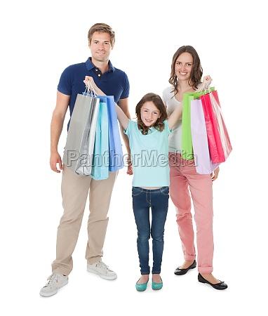 retrato de la familia feliz con