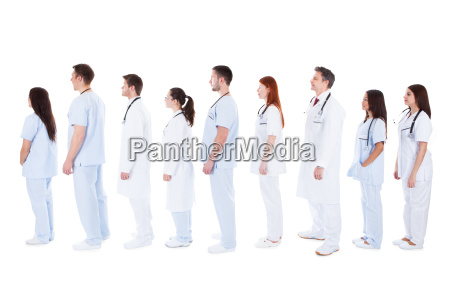 gran grupo de personal medico de