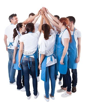 mujer azul personas gente hombre risilla