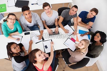 los estudiantes de la universidad de