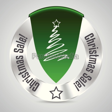insignia de la navidad con la
