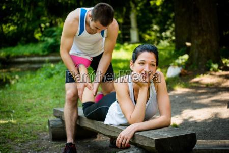 masaje despues de correr