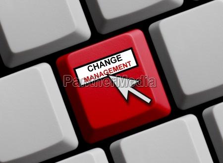 gestion de cambio en linea