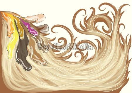 liberado marron ilustracion aislado brillante largo