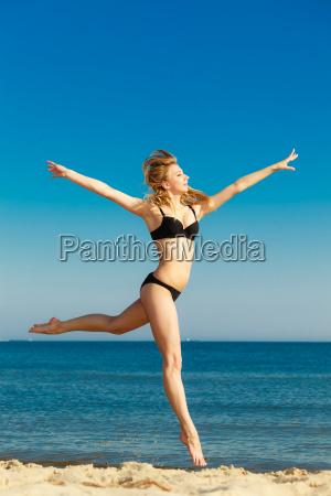 las vacaciones de verano chica en