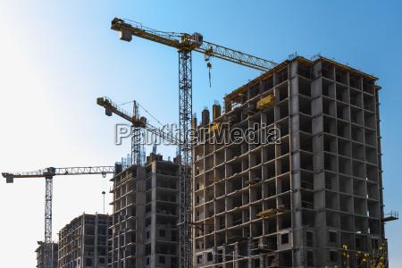 construcción, de, grúas, en, la, construcción - 12645594